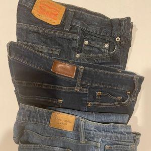 Bundle 3 pair of denim jeans sizes 26 + Nike Shirt